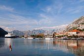 View of Kotor bay and Kotor city, Montenegro, Europe
