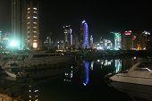 Dubai Marina Boats Night