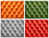 Set of colorful leather backgrounds. Vector illustration.