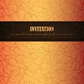 Autumn leaves invitation made of fancy paper, vector eps8 illustration