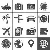 foto of passed out  - Travel and tourism icon set - JPG