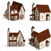 Medieval Houses Cottage poster