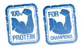 100 % Protein, For Champions stamps set.