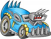 pic of armored car  - Apocalyptic Car Vehicle vector - JPG