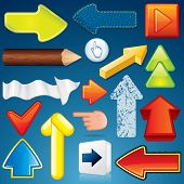Set of Various Arrow Icons. Abstract Vector Design Elements