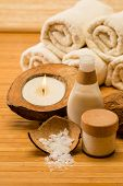 Coconut spa and beauty cosmetics natural body care lotion