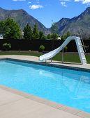 Backyard Pool With Slide