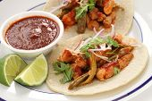 pork and cactus tacos, mexican cuisine