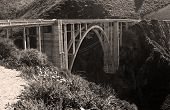 stock photo of bixby  - This is a picture of the Bixby Bridge on the Big Sur coastline - JPG