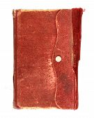 Very Old Note Book On White