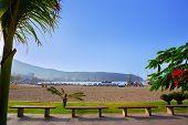Los Cristianos beach in Arona Tenerife south at Canary Islands