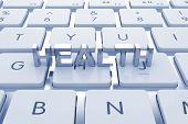 Health Text On Computed Keyboard