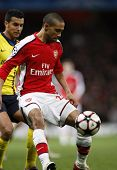 LONDON, ENGLAND. 31/03/2010. Arsenal player Gael Clichy in action during the  UEFA Champions League