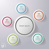 Colorful Six Infographic Circles