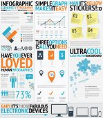 Infographic typography filled easy and fresh vector elements