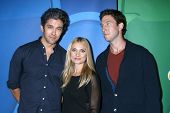 LOS ANGELES - JUL 27:  Neal Bledsoe, Spencer Grammer, Pablo Schreiber at the NBC TCA Summer Press To