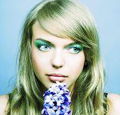 Girl witn hyacinth