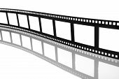 Blank Flowing Film Strip