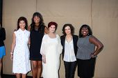 LOS ANGELES - JUL 29:  Julie Chen, Aisha Tyler, Sharon Osbourne, Sarah Gilbert, Sheryl Underwood arr