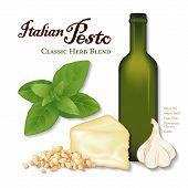 Pesto italiano, mezcla de hierbas clásicas
