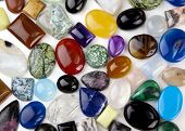 Variety Of Cabochons Background