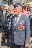 Unidentified Veterans During The Celebration Of Victory Day. Minsk, Belarus - May 9: Unidentified Ve