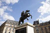 Famous square at Etienne Marcel in Paris, France.