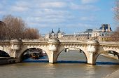 View of the Pont Neuf and the Latin Quarter, Paris.