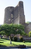 Maiden Tower in Baku, Azerbaijan in a Summer day.