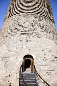 Entrance of Maiden Tower in Baku, Azerbaijan in a Summer day.