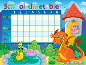 School timetable thematic image 4 - eps10 vector illustration.