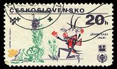 Czechoslovakia - Circa 1979: A Stamp Printed In Czechoslovakia Shows Dancing Goat, Stamp From Series