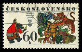 Czechoslovakia- Circa 1977: A Stamp Printed In The Czechoslovakia, Represented, 6Th Biennial Exhibit