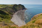 Hartland Point beach near Clovelly Devon England