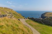 Tintagel Castle Cornwall medieval fortification on the peninsula of Tintagel Island