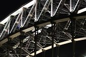 Detail Of Sydney Harbour Bridge At Night.