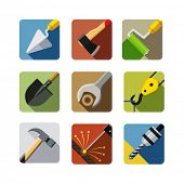 construction tools. set of vector icons. vector illustration isolated on white background EPS10. Tra