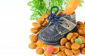 Childrens Shoe With Carrot Voor Sinterklaas And Pepernoten
