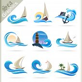 Sea Graphics Series - Premium Sea Travel Symbols