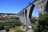 picture of aqueduct  - The Aguas Livres Aqueduct  - JPG