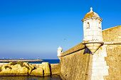 picture of bandeiras  - Medieval tower from Fortaleza da Ponta da Bandeira at Lagos - JPG
