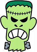 Frankenstein de Halloween com raiva