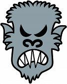 foto of wolfman  - Scary werewolf with sharpen teeth - JPG