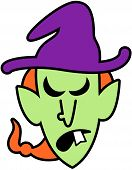 Angry Halloween witch