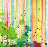 Abstract strip and blot watercolor painted background