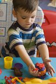 Toddler With Toys poster