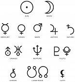 Astrología planeta símbolos