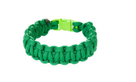picture of paracord  - Paracord survival Bracelet using a Cobra weave in Kelly green cord - JPG