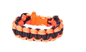 picture of paracord  - Paracord survival Bracelet using a Dragons teeth weave in black and orange the team colors of the San Francisco Giants - JPG