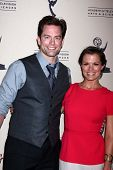 Michael Muhney and Melissa Claire Egan at the Daytime Emmy Nominees Reception presented by ATAS, Mon